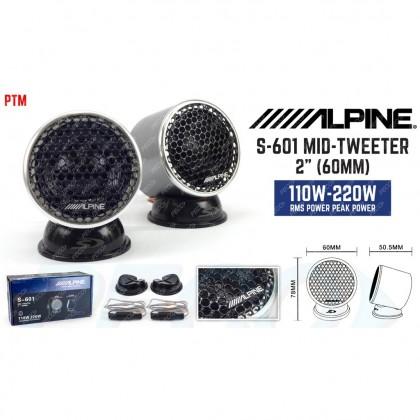 """ALPINE S-601 MID-TWEETER 2"""" (60MM)"""