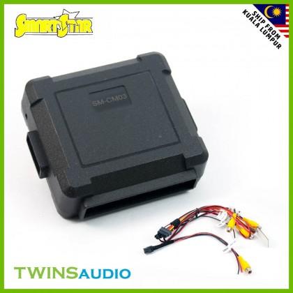 3 Way Camera Converter Control Box - Front & Reverse & Side Camera (CM-03)