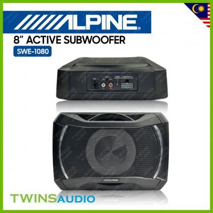 Alpine SWE-1080 Active Subwoofer 8 Inch Car Compact Active Subwoofer