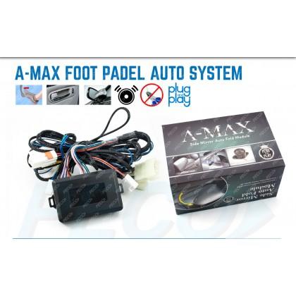 A-MAX FOOT PADEL AUTO SYSTEM 6 IN 1 (BRAKE LOCK+MIRROR FOLD+BUZZER+LED+SIGNAL+BUTTON)