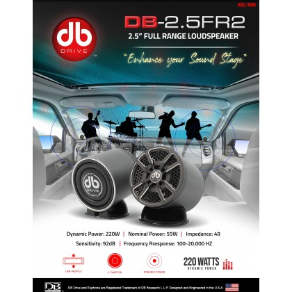 """DB DRIVE 25FR2 2.5"""" FULL RANGE SPEAKER"""