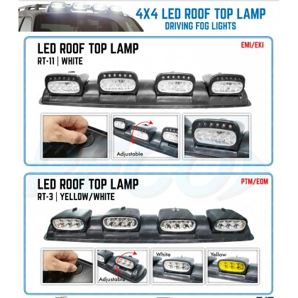 4 x 4 LED ROOF TOP LAMP (WHITE)