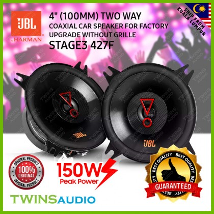 """JBL Stage3 427F   4"""" (100mm) 2-Way coaxial car speaker for factory upgrade without grille 100% Original JBL Car Speaker"""