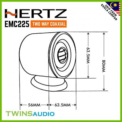 HERTZ Tweeter Speaker EMC225 Two Way Coaxial Car Speakers 80 watt Speakers
