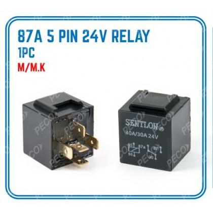 87A 5 PIN RELAY (24V) (1 PCS)