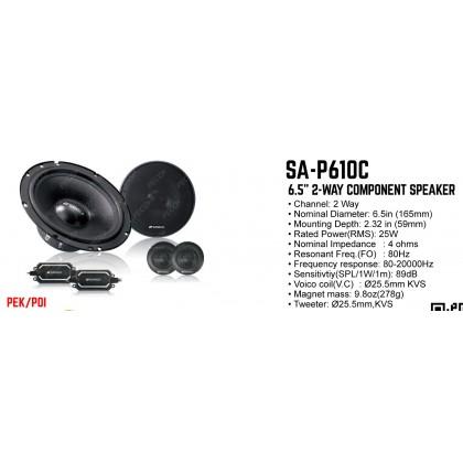 """SANSUI SA-P610C 6.5"""" 2WAY COMPONENT"""