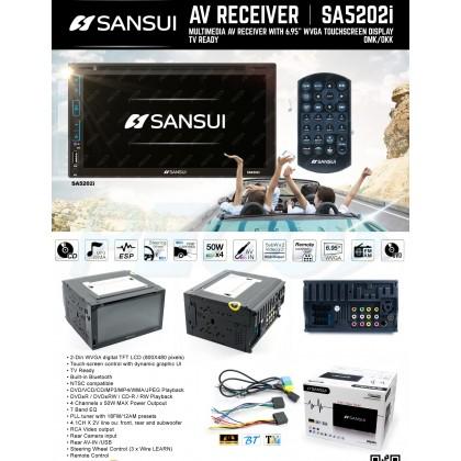 "SANSUI SA-5201i / SA-5202i  6.95"" 2DIN DVD MONITOR WITH TOUCHSCREEN DISPLAY & TV READY"