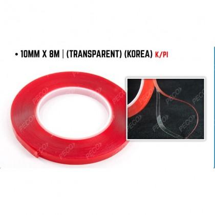 10MM X 8M DOUBLE SIDE TAPE (TRANSPARENT) (KOREA)