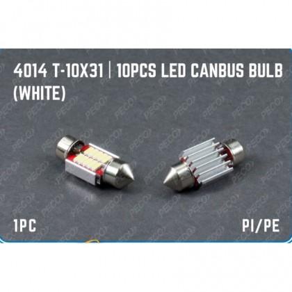 4014 T-10X31 10PCS LED CANBUS BULB (WHITE)