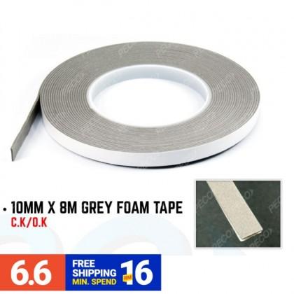 10MM X 8M GREY FOAM TAPE