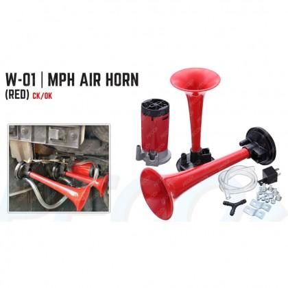 W-01 MPH TWIN TONE AIR HORN (RED)