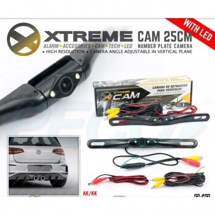 XTREME CAM 25CM NUMPER PLATE CAMERA WITH LED